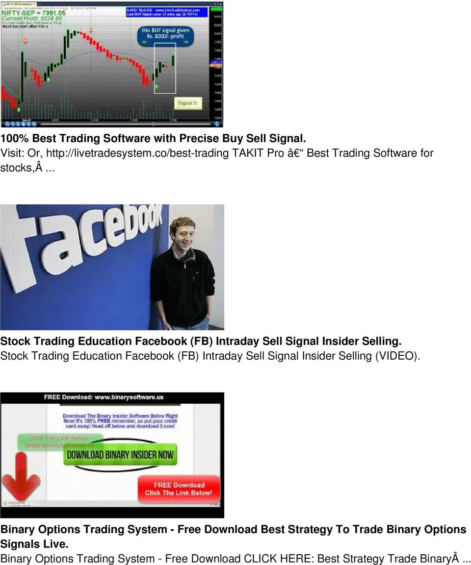 .. Stock Trading Education Facebook (FB) Intraday Sell Signal Insider Selling.