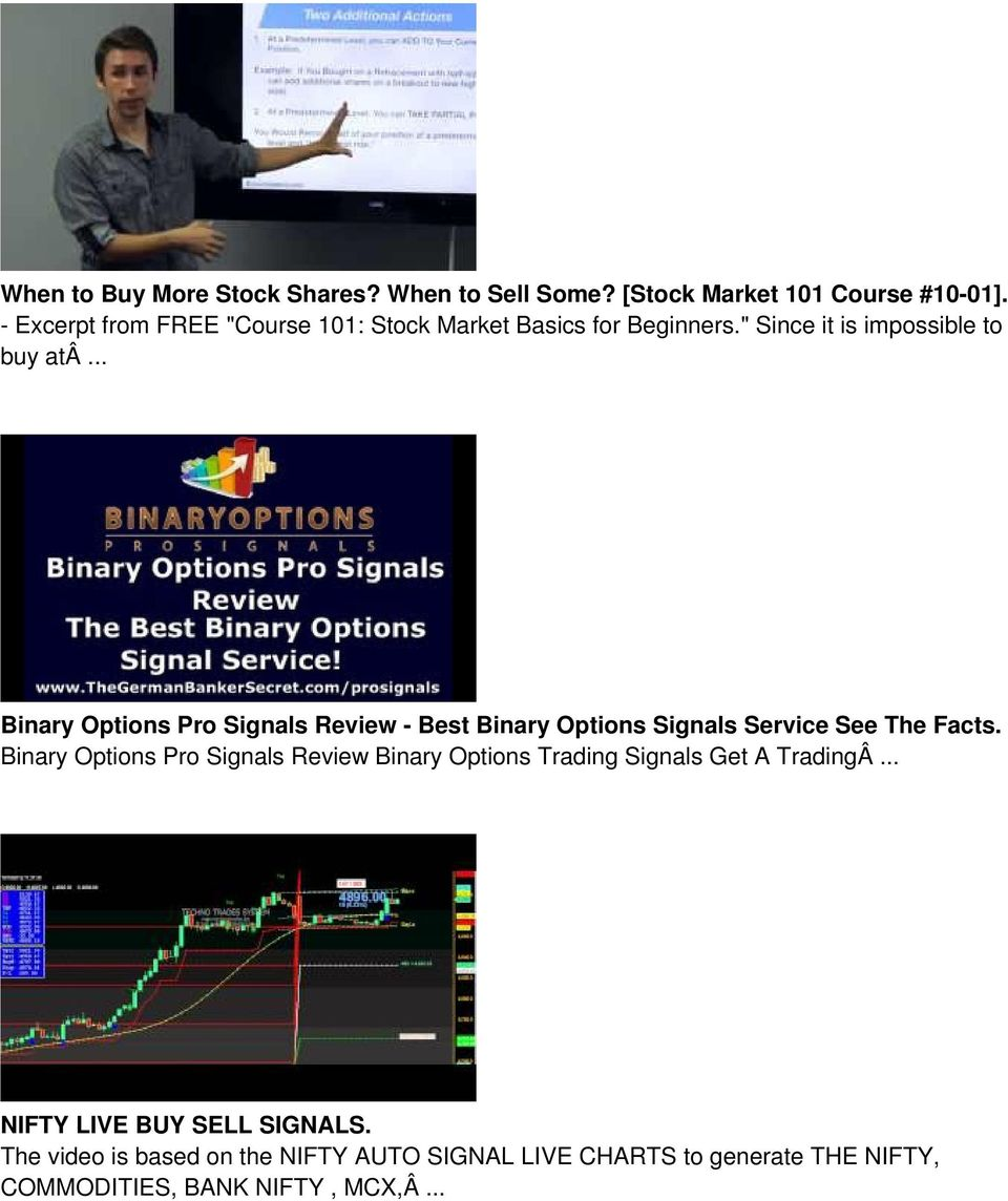 .. Binary Options Pro Signals Review - Best Binary Options Signals Service See The Facts.