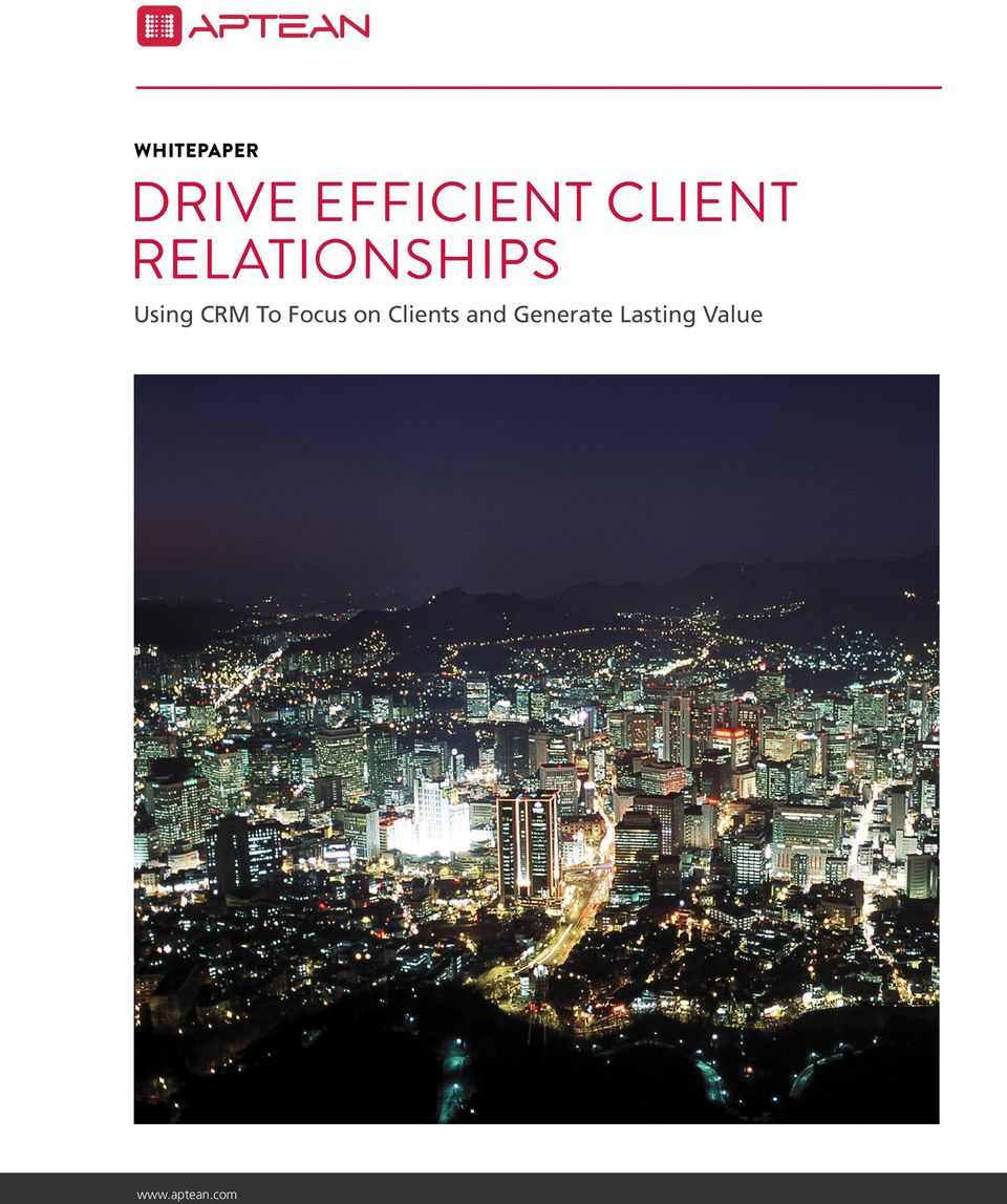 Relationships Using CRM
