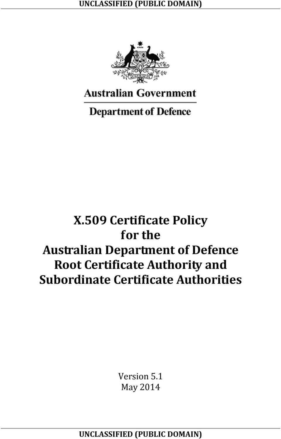 Certificate Authority and Subordinate