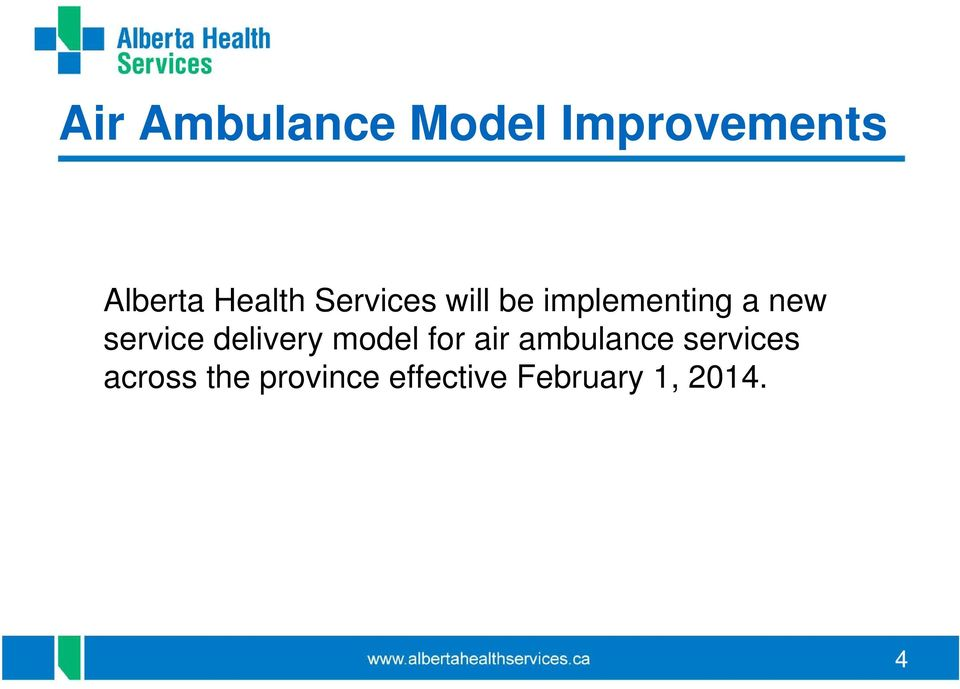 service delivery model for air ambulance