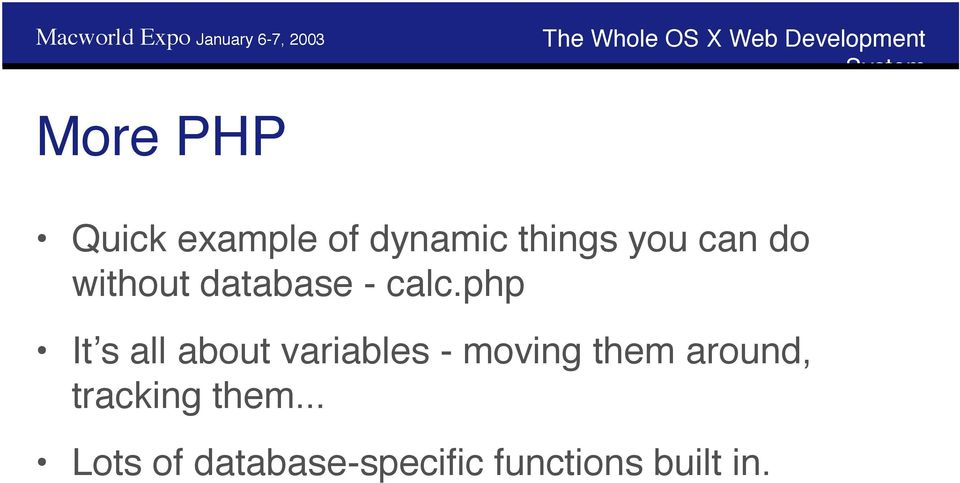 php It s all about variables - moving them