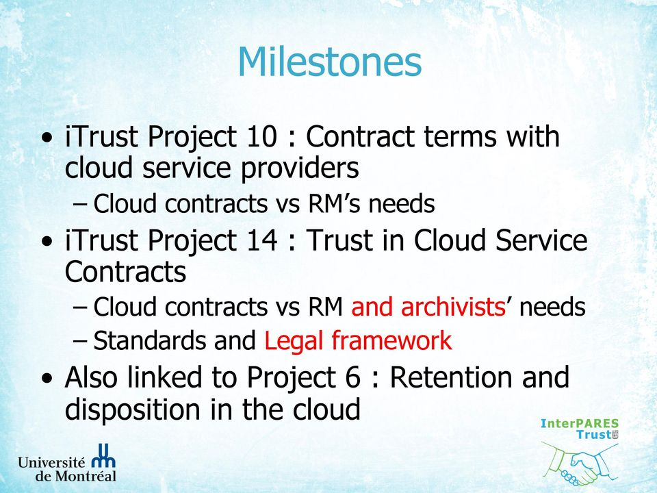 Cloud Service Contracts Cloud contracts vs RM and archivists needs