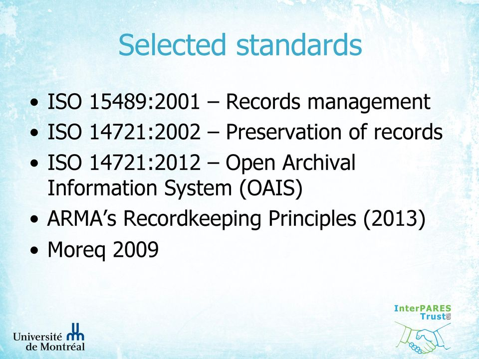 records ISO 14721:2012 Open Archival Information