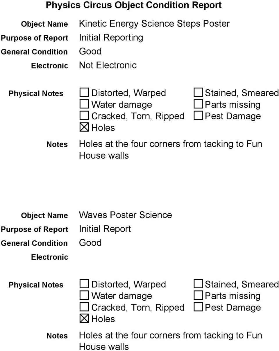 corners from tacking to Fun Waves Poster Science