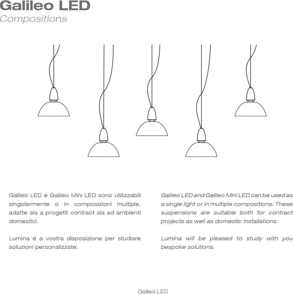 and Galileo Mini LED can be used as a single light or in multiple compositions.