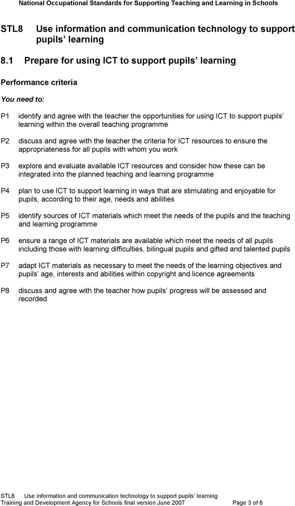resources and consider how these can be integrated into the planned teaching and learning programme plan to use ICT to support learning in ways that are stimulating and enjoyable for pupils,
