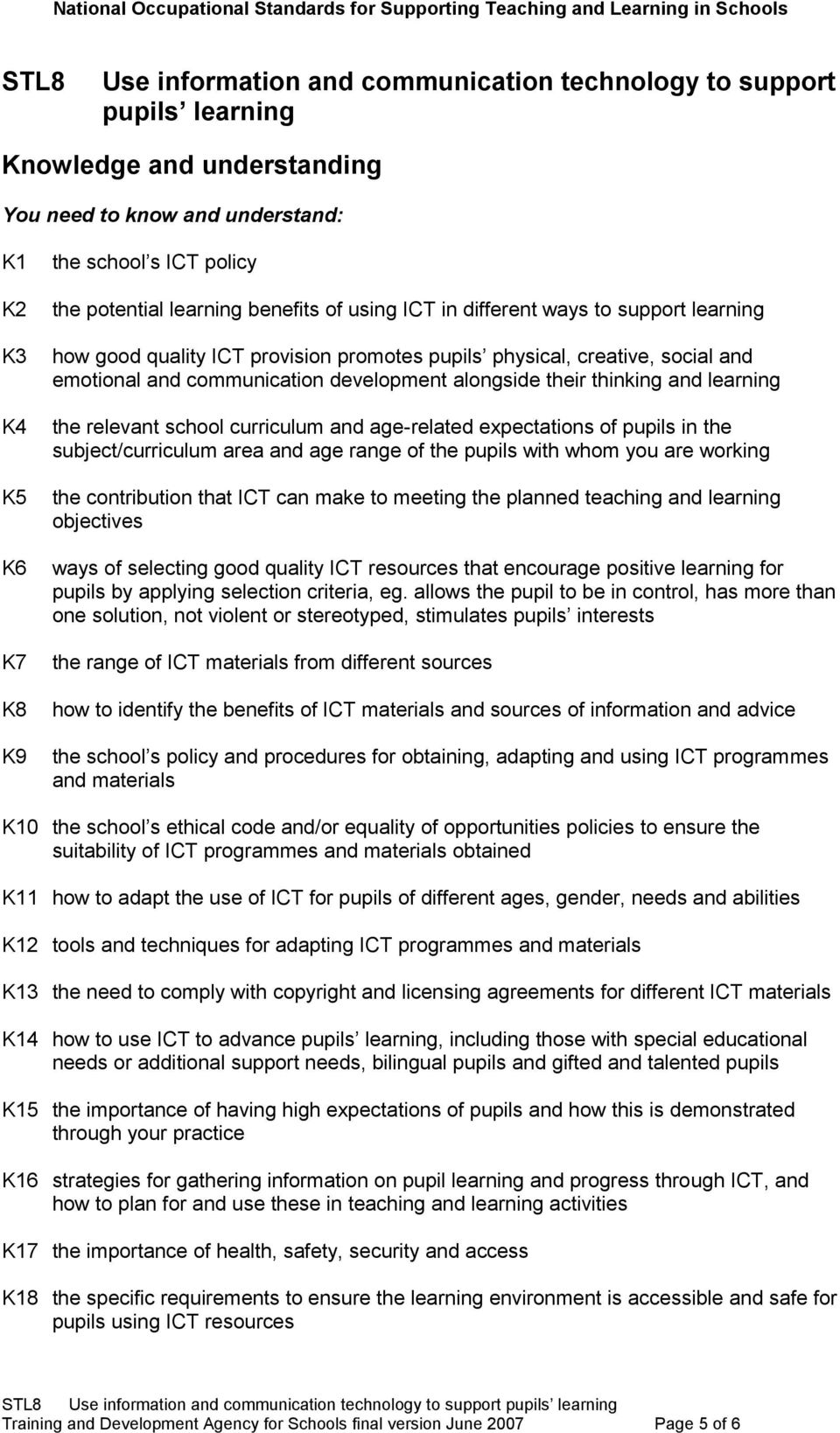 expectations of pupils in the subject/curriculum area and age range of the pupils with whom you are working the contribution that ICT can make to meeting the planned teaching and learning objectives