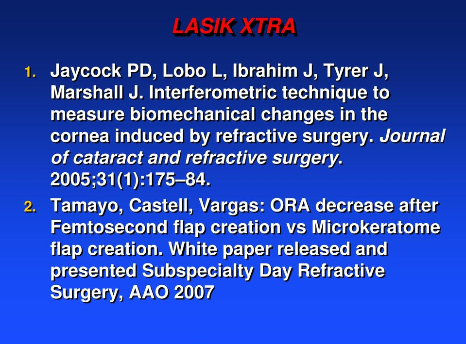 Journal of cataract and refractive surgery. 20