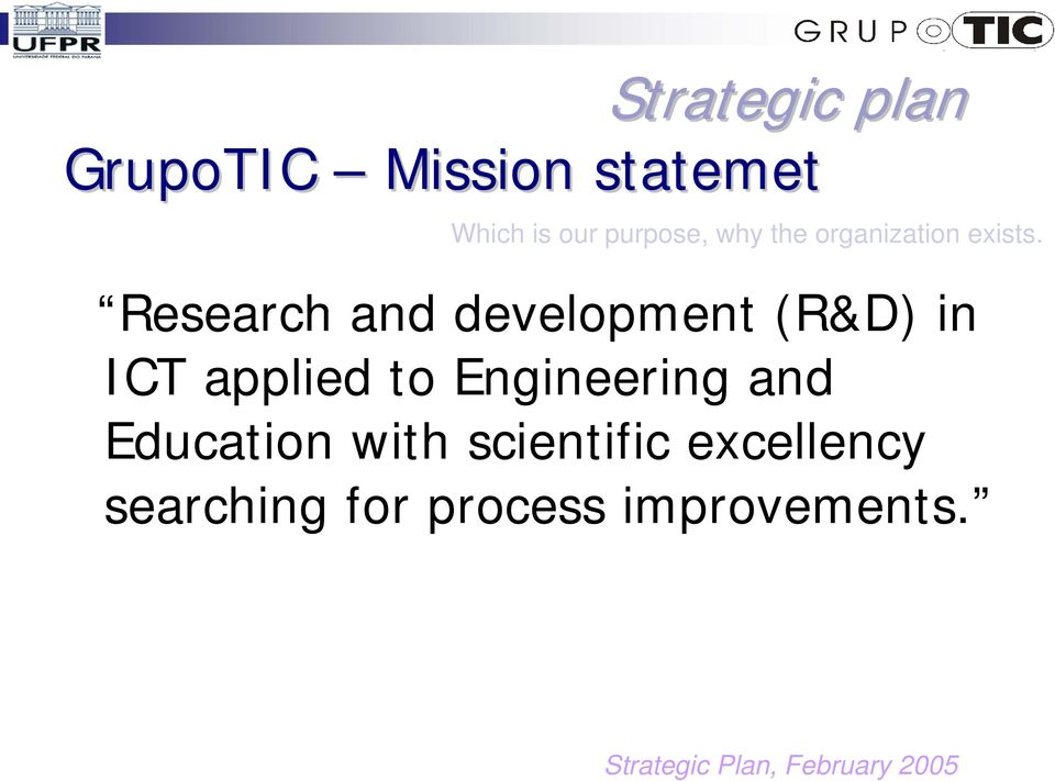 Research and development (R&D) in ICT applied to Engineering and
