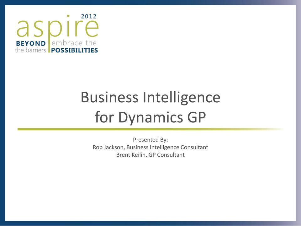 Jackson, Business Intelligence
