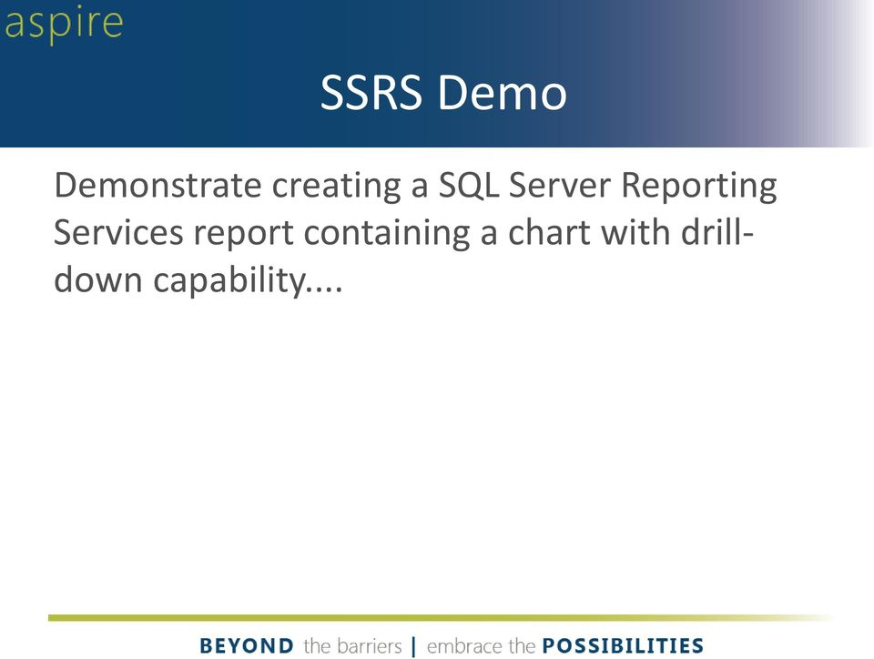 Reporting Services report