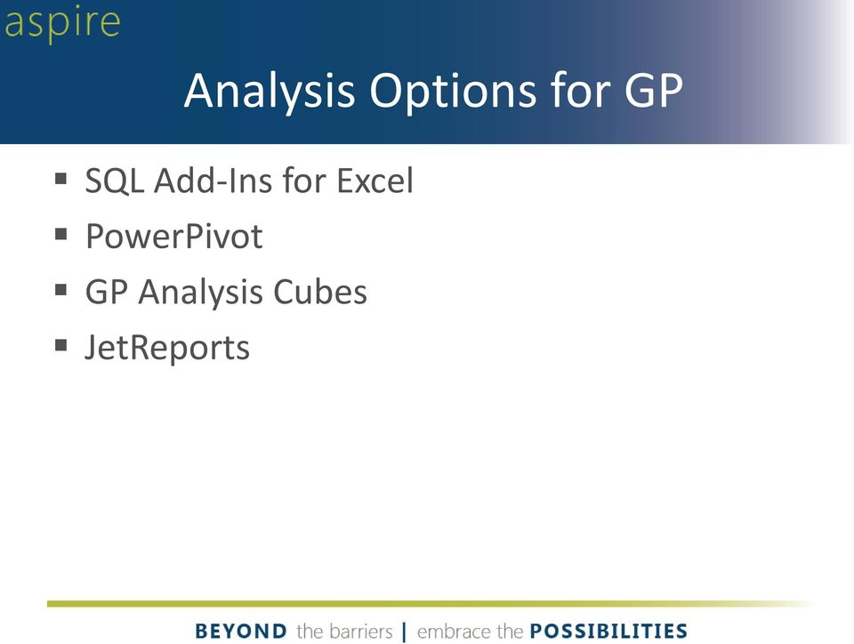 Excel PowerPivot GP