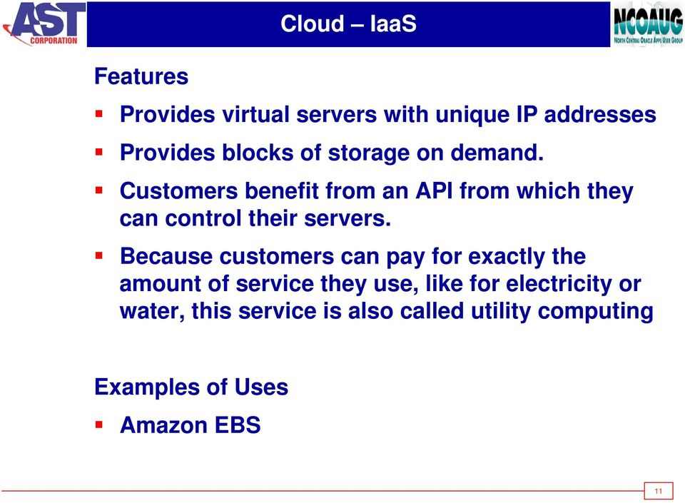 Customers benefit from an API from which they can control their servers.