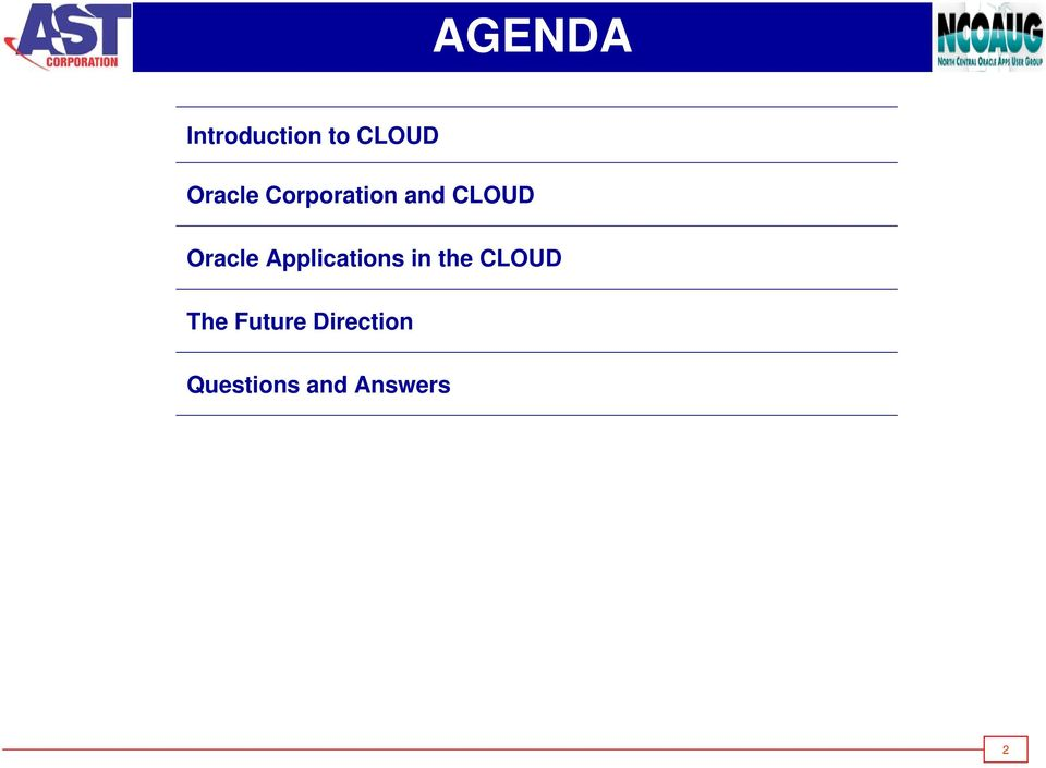 Oracle Applications in the CLOUD
