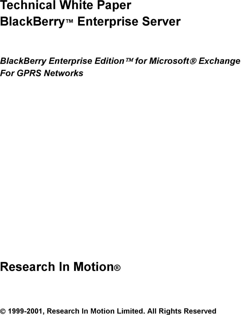 Microsoft Exchange For GPRS Networks Research In