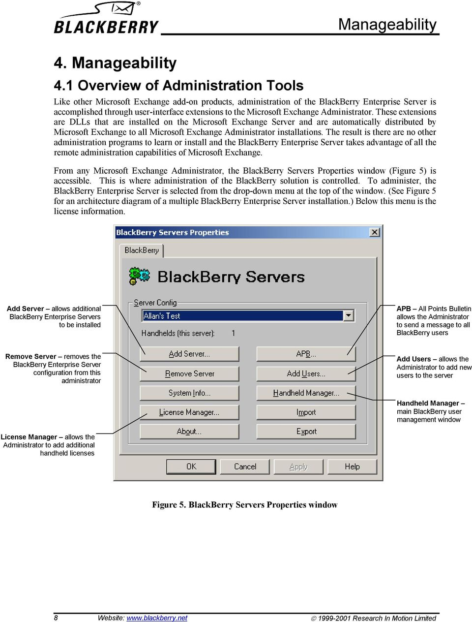 the Microsoft Exchange Administrator.