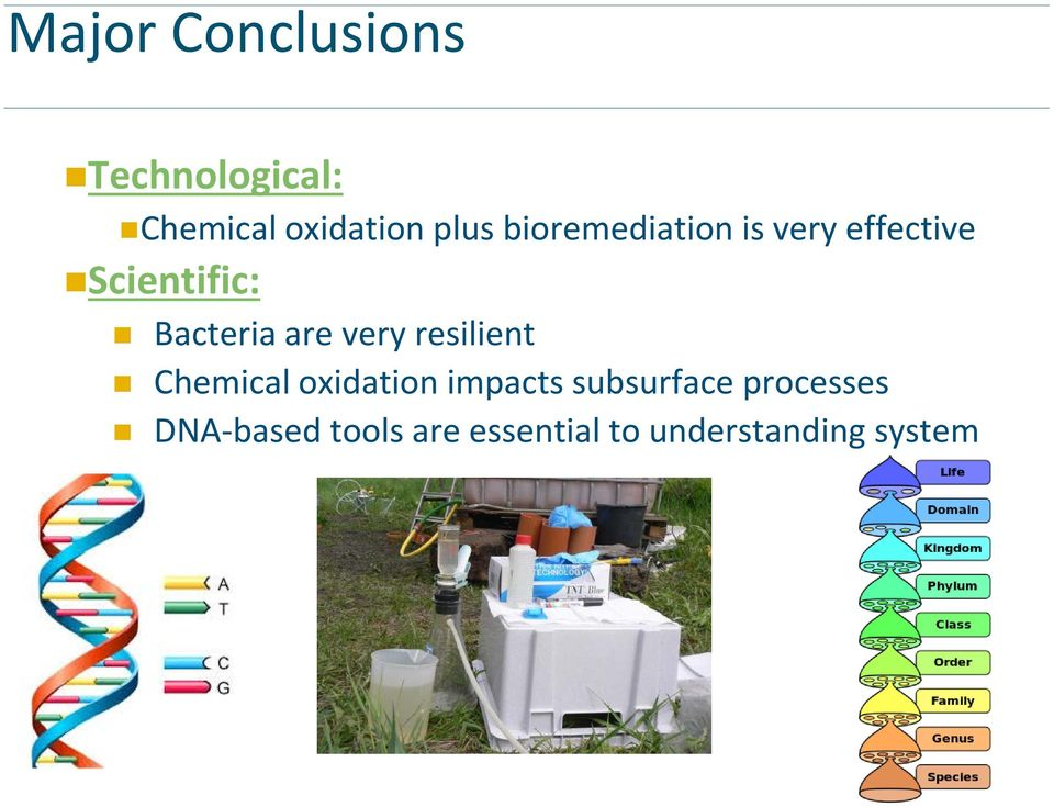 very resilient Chemical oxidation impacts subsurface