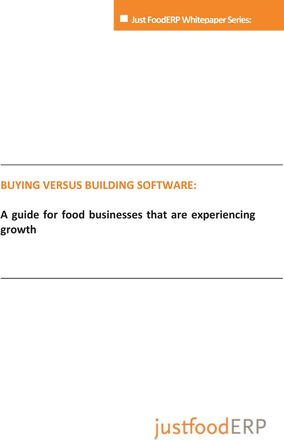 SOFTWARE: A guide for food