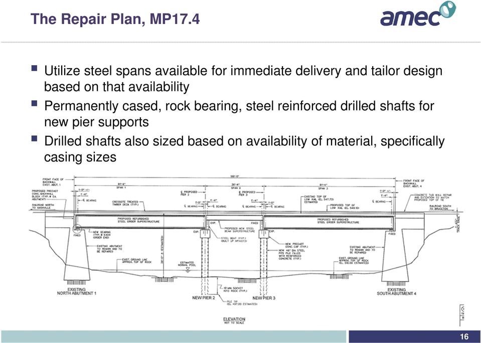 based on that availability Permanently cased, rock bearing, steel