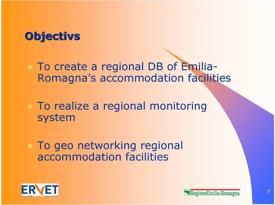 To realize a regional monitoring system To