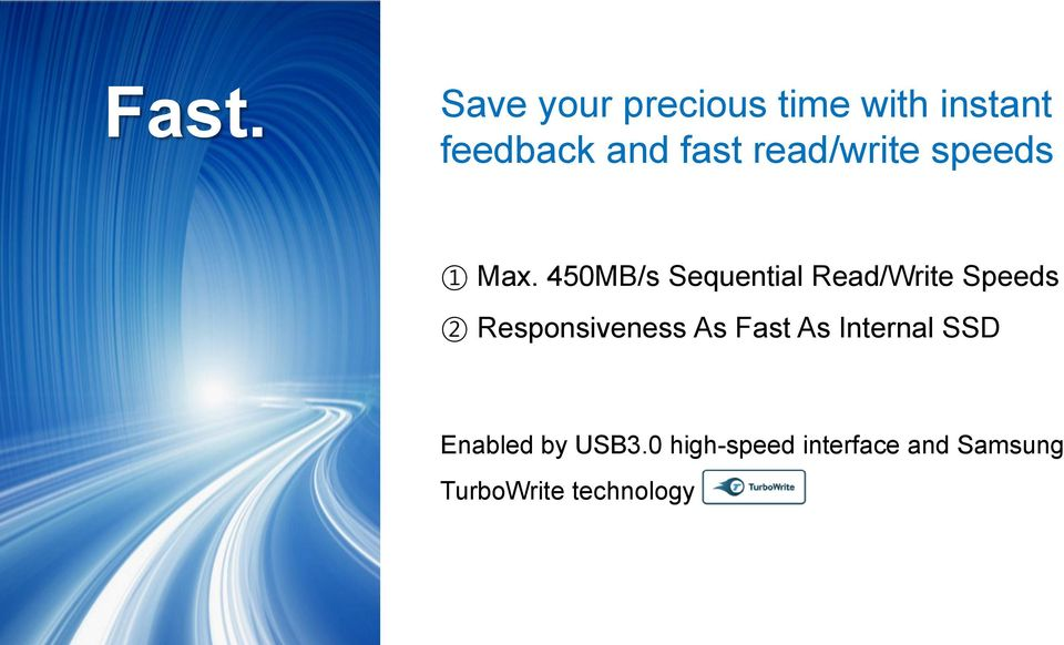 450MB/s Sequential Read/Write Speeds 2 Responsiveness As