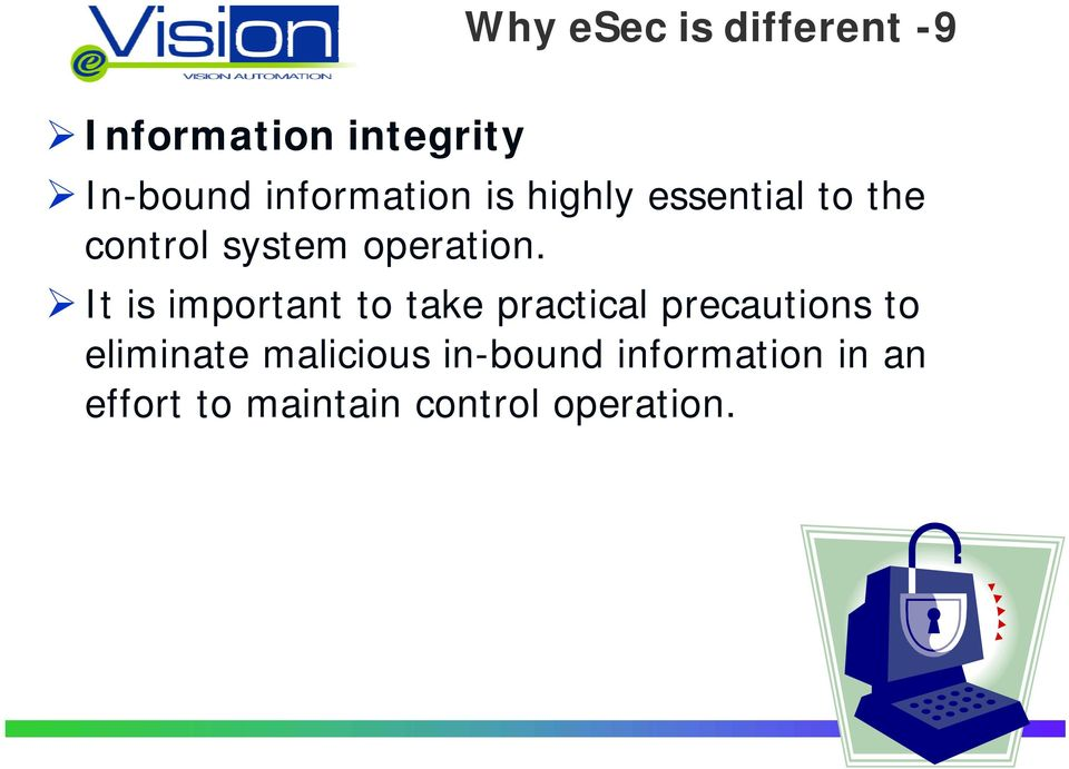 the control system operation.