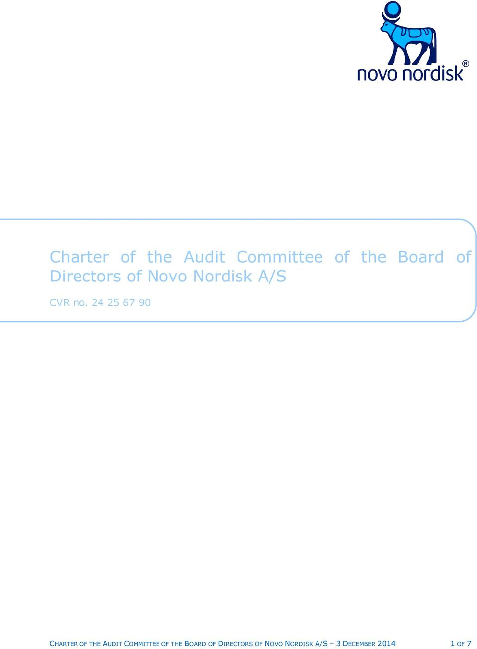 24 25 67 90 CHARTER OF THE AUDIT COMMITTEE OF