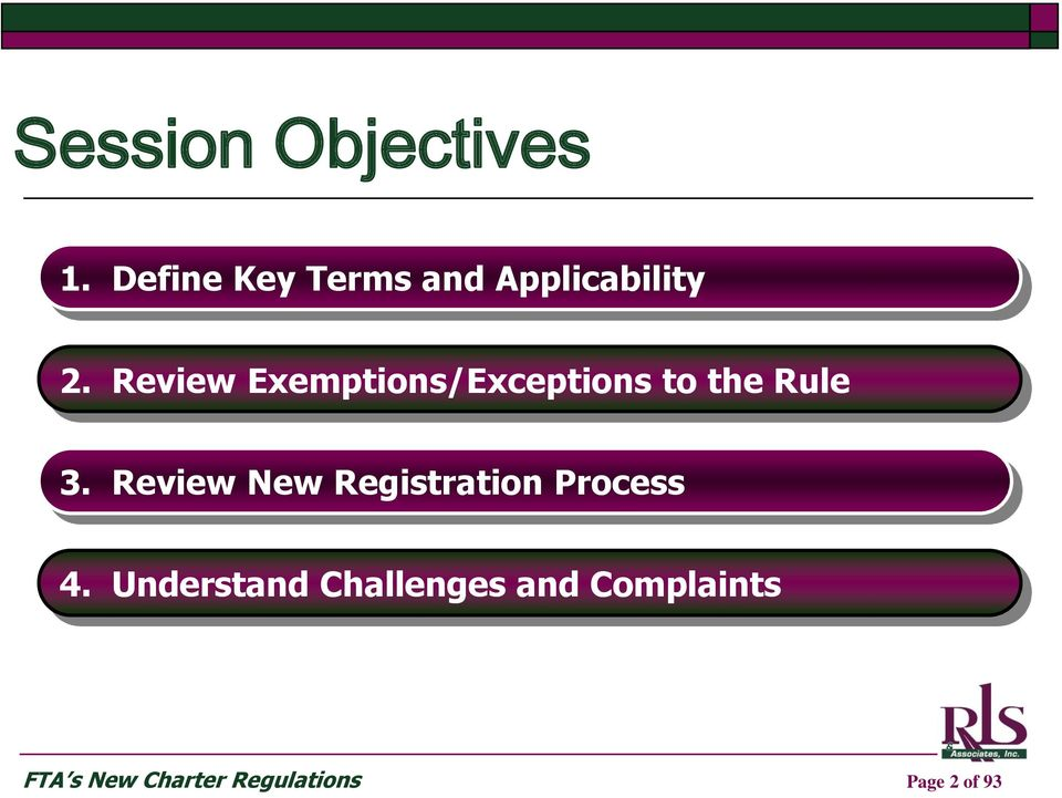 Review Exemptions/Exceptions to the Rule 3.
