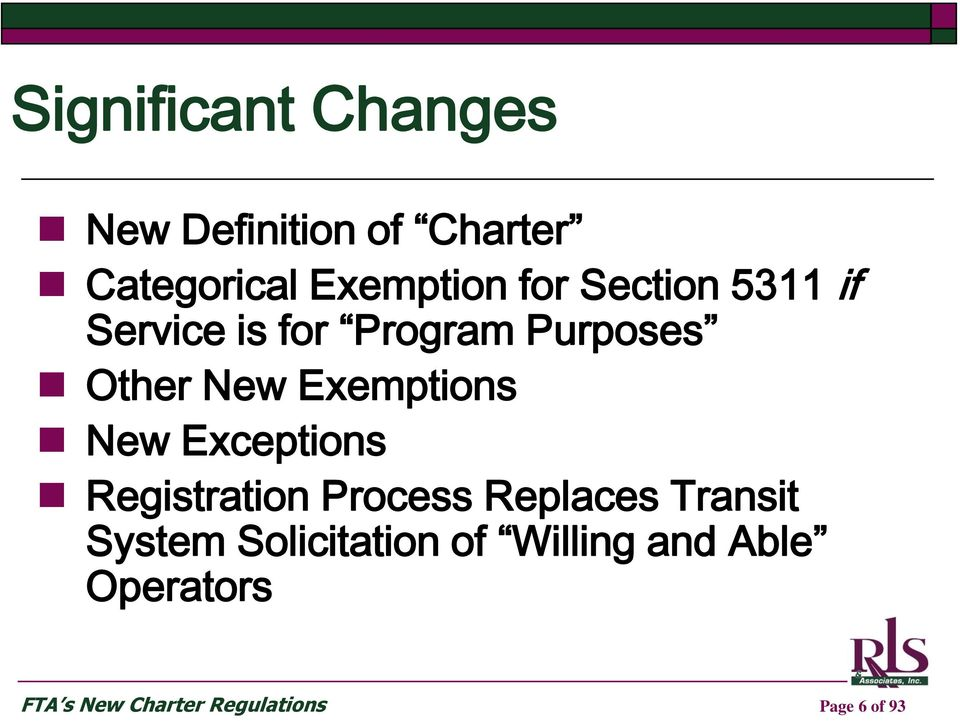 New Exceptions Registration Process Replaces Transit System
