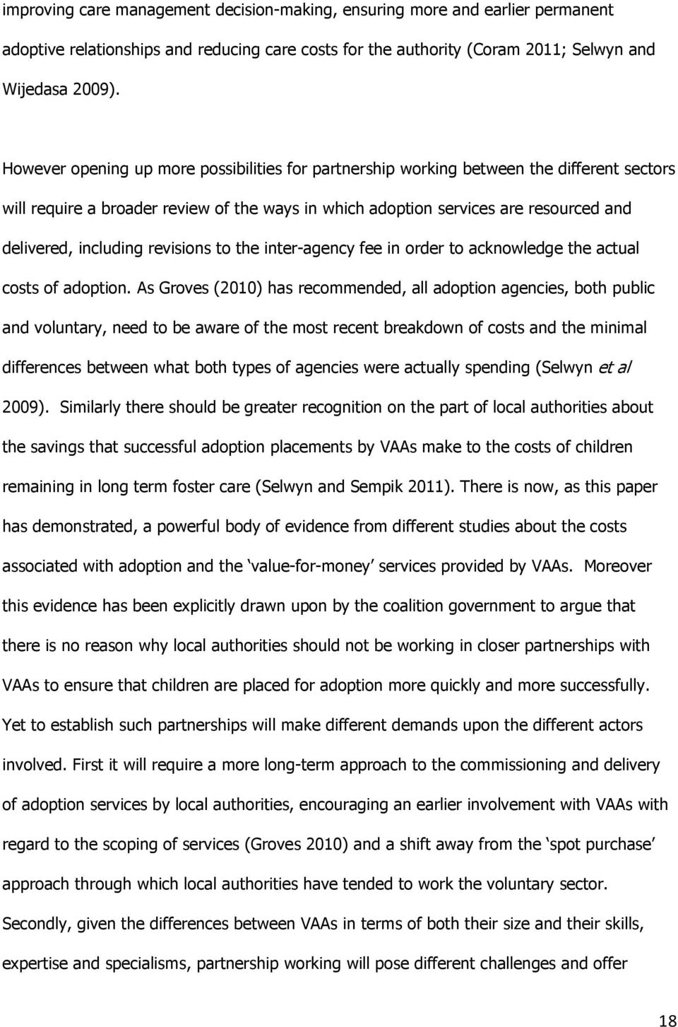 revisions to the inter-agency fee in order to acknowledge the actual costs of adoption.
