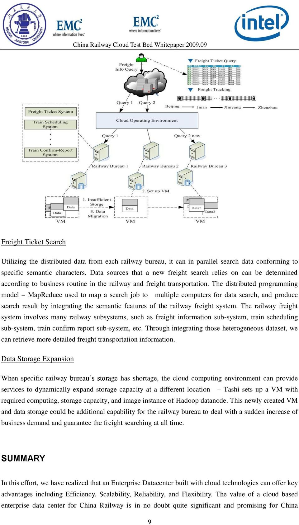 The distributed programming model MapReduce used to map a search job to multiple computers for data search, and produce search result by integrating the semantic features of the railway freight