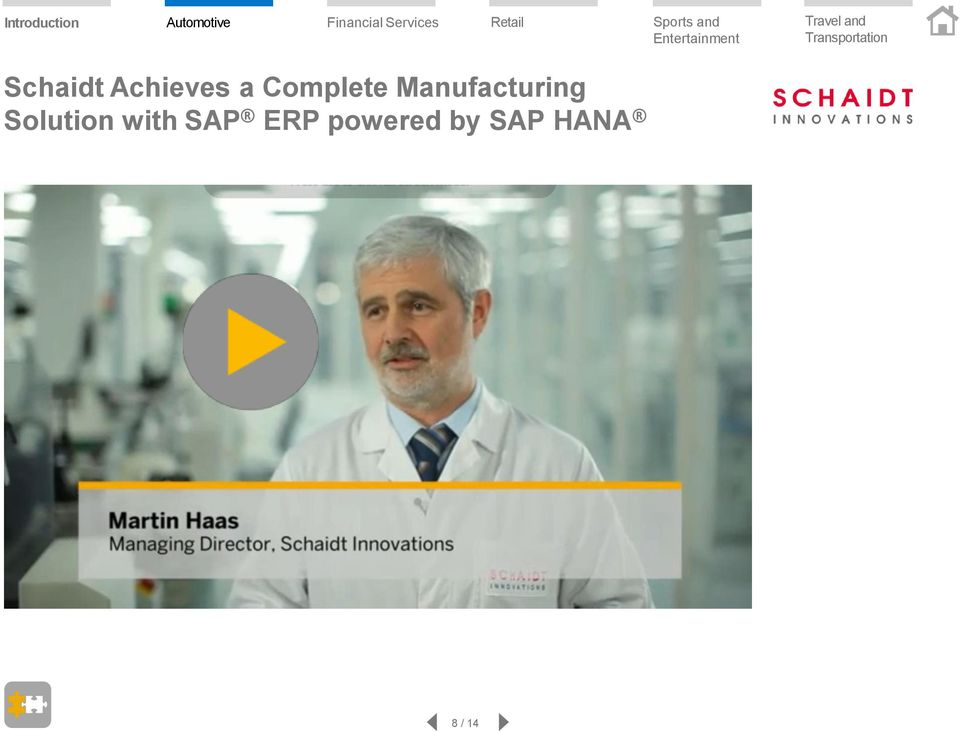 Solution with SAP ERP