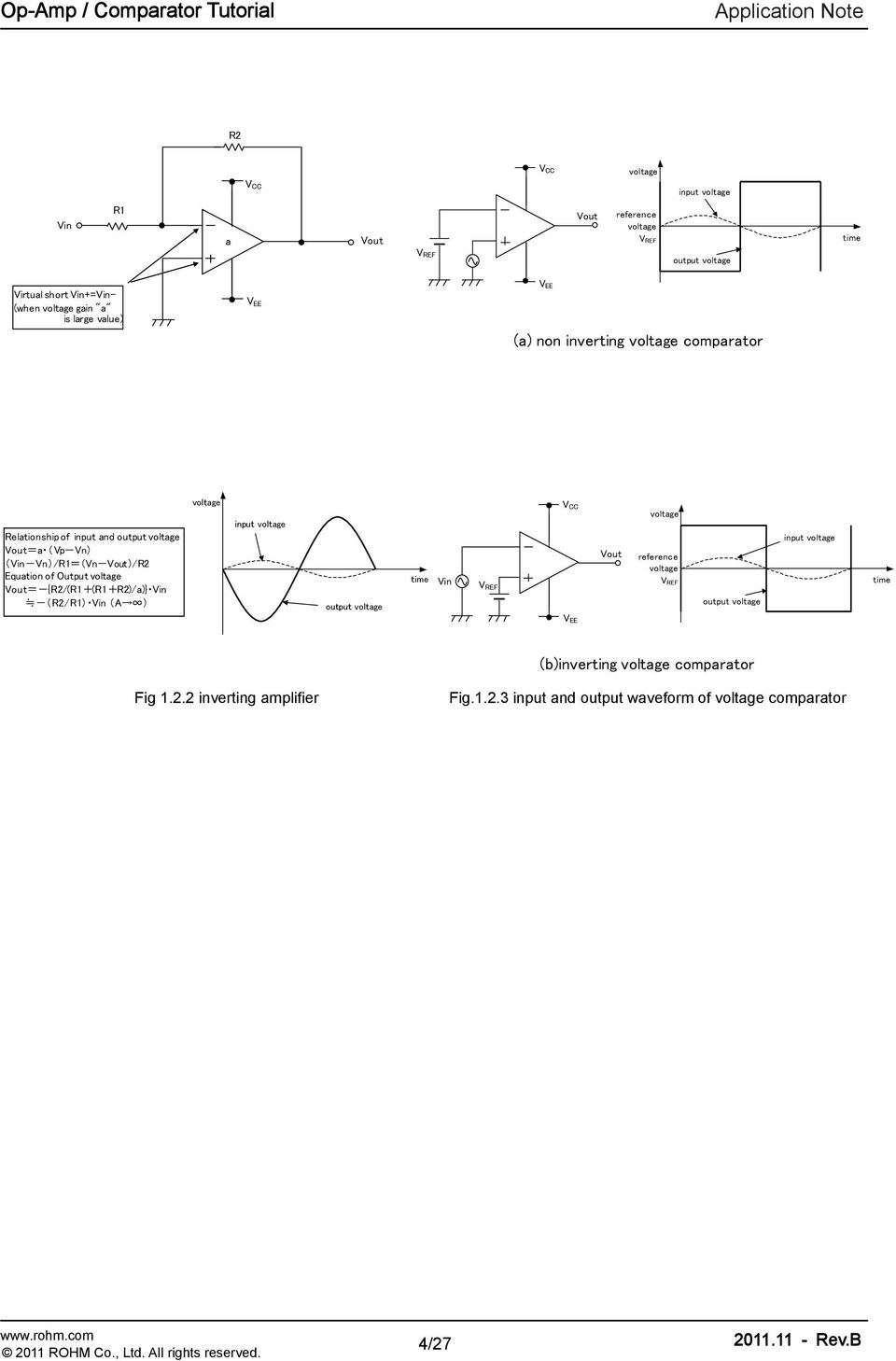 Operational Amplifiers Comparators Application Note Op Amp Shown To Use Lm324 Voltage Comparator Composed Of A Test Circuit It R2 R1