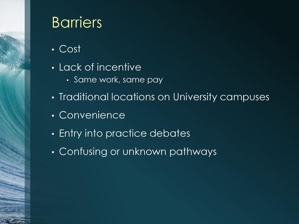 University campuses Convenience Entry