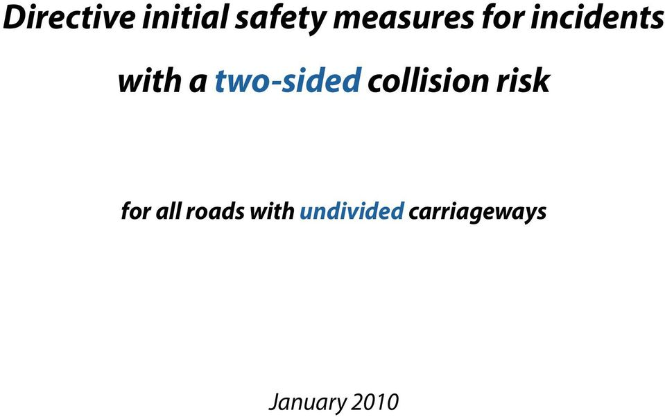two-sided collision risk for
