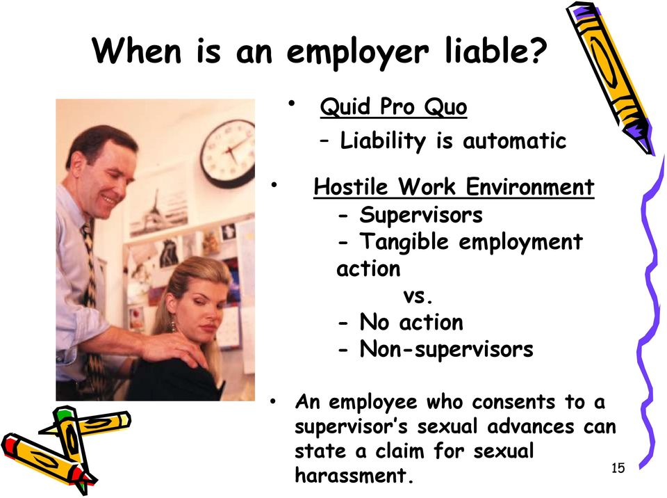 Supervisors - Tangible employment action vs.