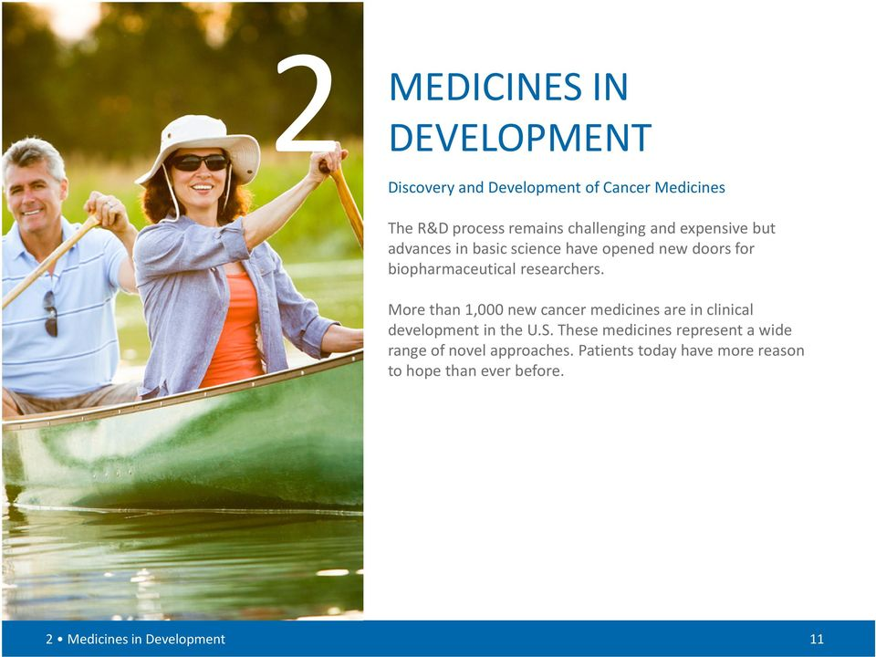 More than 1,000 new cancer medicines are in clinical development in the U.S.