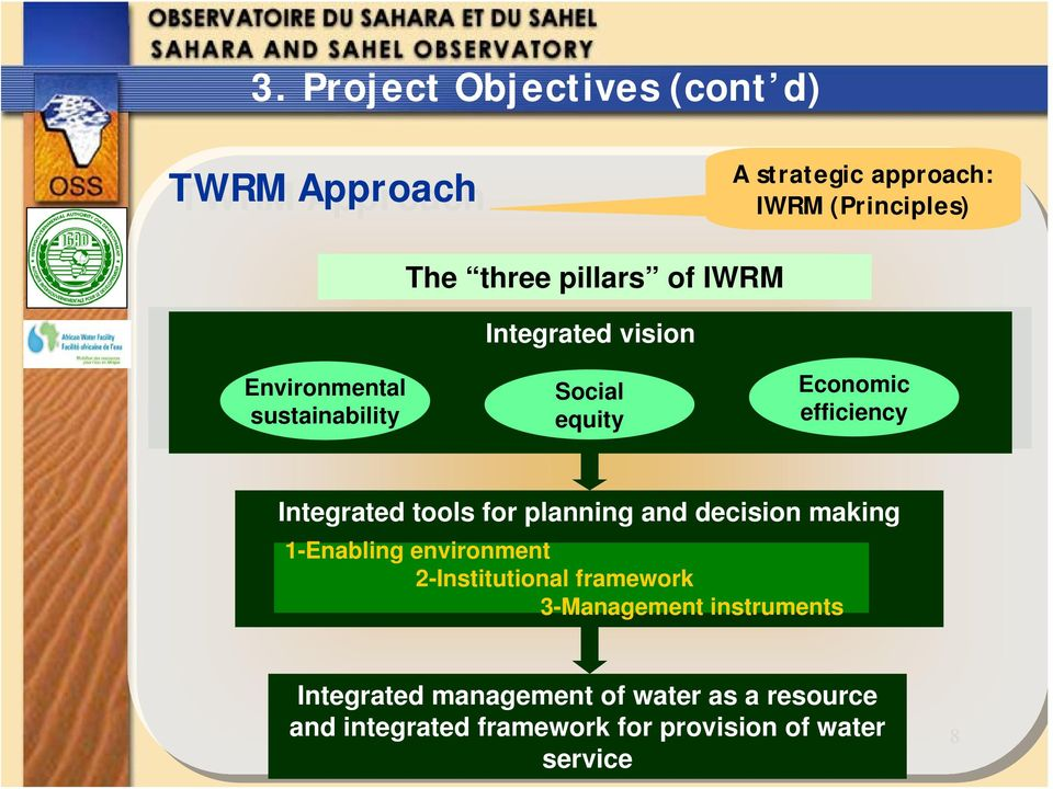 tools for planning and decision making 1-Enabling environment 2-Institutional framework 3-Management