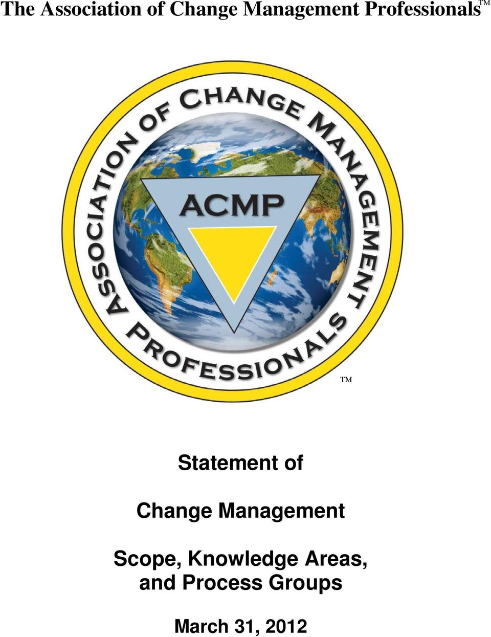 of Change Management Scope,