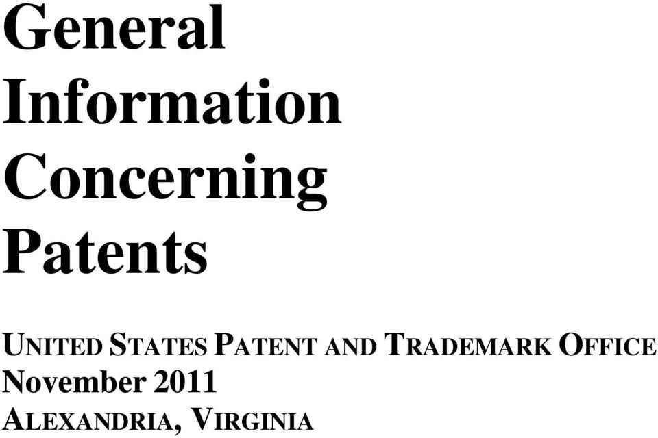 STATES PATENT AND TRADEMARK
