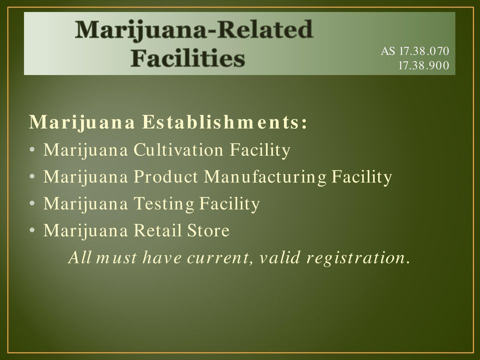 900 Marijuana Establishments: Marijuana Cultivation
