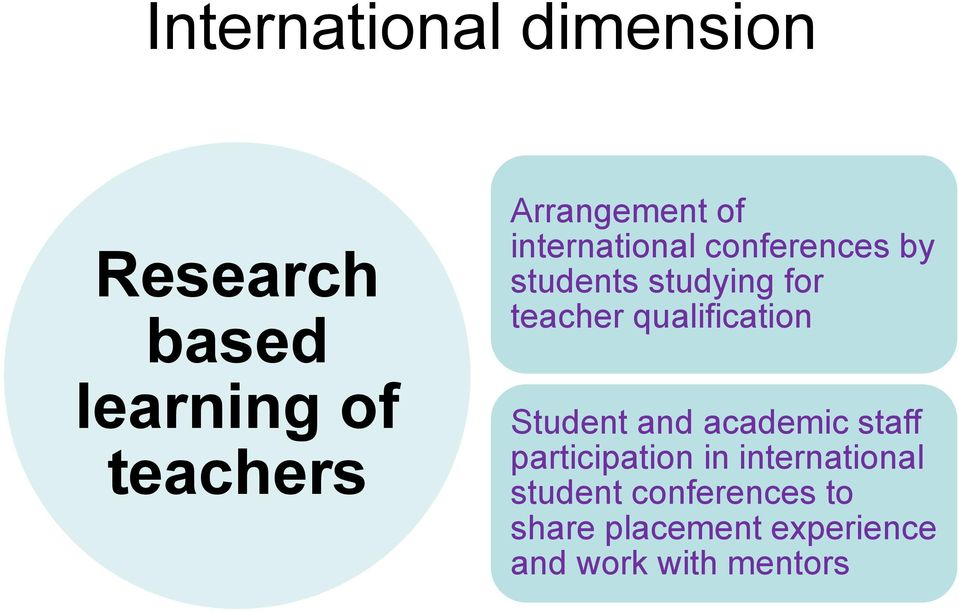 teacher qualification Student and academic staff participation in