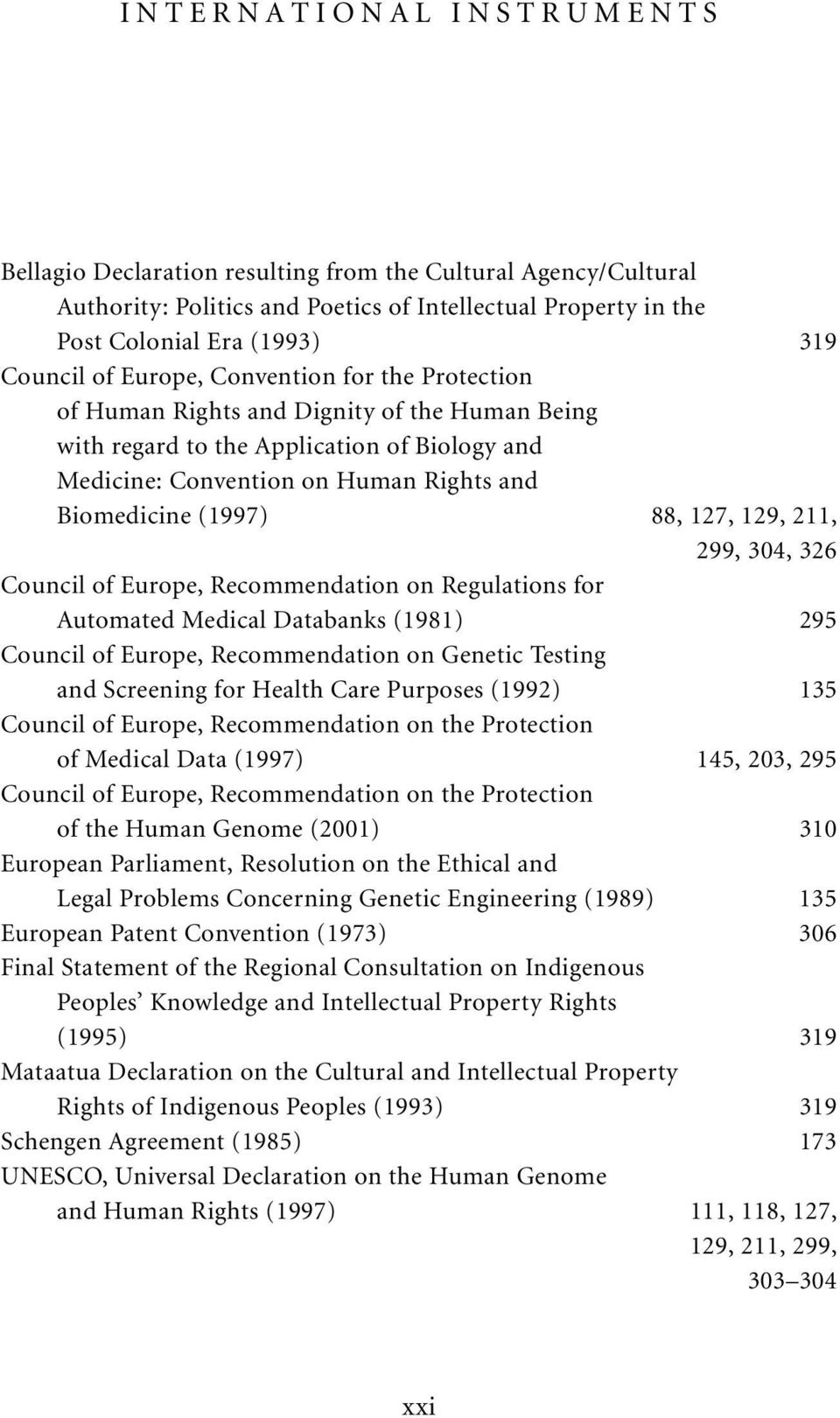 129, 211, 299, 304, 326 Council of Europe, Recommendation on Regulations for Automated Medical Databanks (1981) 295 Council of Europe, Recommendation on Genetic Testing and Screening for Health Care