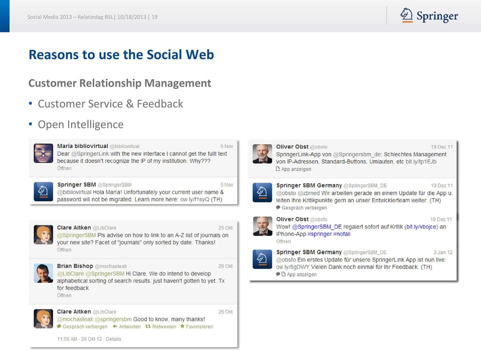Social Web Customer Relationship