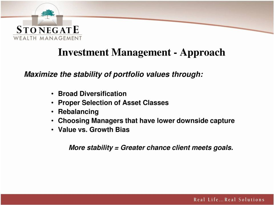Classes Rebalancing Choosing Managers that have lower downside