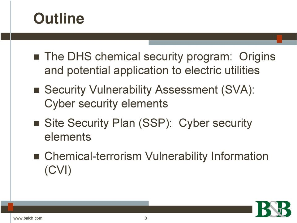 (SVA): Cyber security elements Site Security Plan (SSP): Cyber