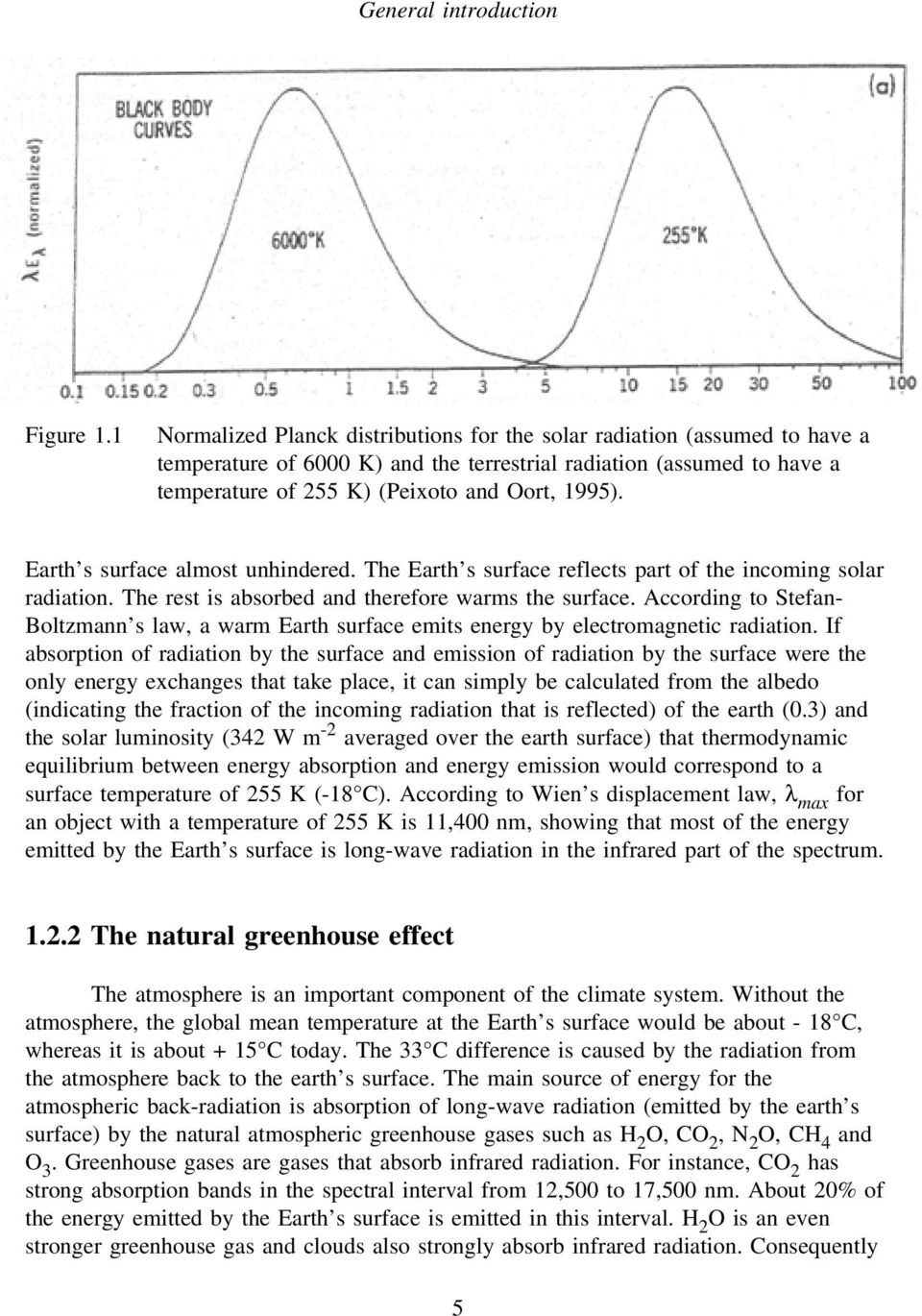 Earth s surface almost unhindered. The Earth s surface reflects part of the incoming solar radiation. The rest is absorbed and therefore warms the surface.