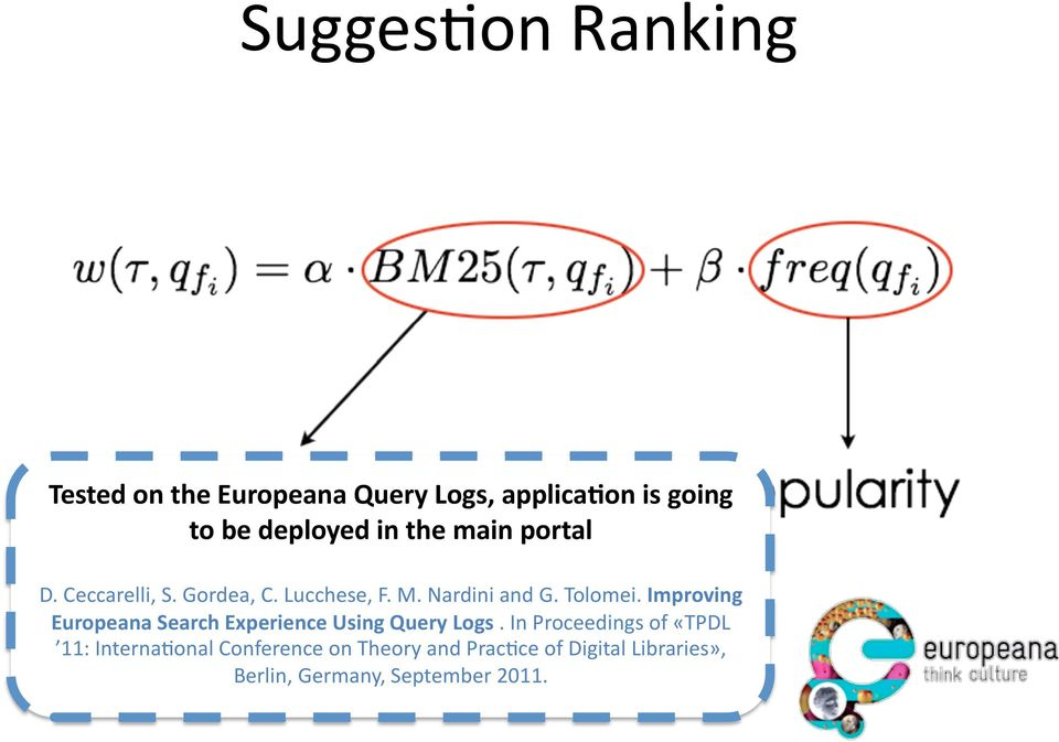 Improving Europeana Search Experience Using Query Logs.