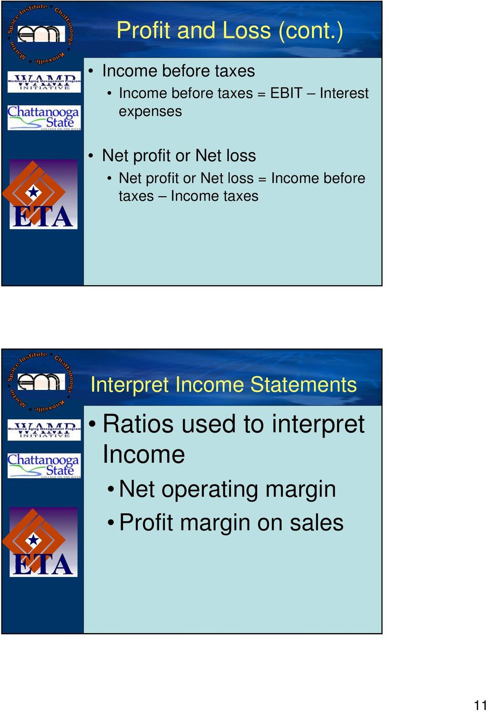 Net profit or Net loss Net profit or Net loss = Income before taxes